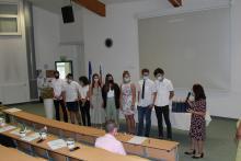 Dijaki, ki so uspešno sodelovali pri promociji šole